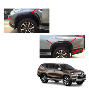Mitsubishi Pajero Montero Sport Fender Flares Wheel Set Black On 2015 2016 17