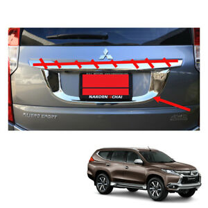 Mitsubishi Pajero Montero Sport License Plate Liftgate Chrome 1pc On 2016 2017