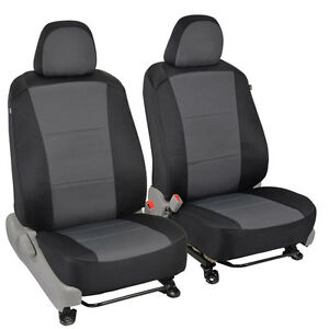Custom Fit Car Seat Covers For 2012 Toyota Camry Sedan Black Charcoal Gray