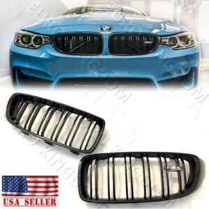 For Bmw 14 F32 F36 435i 428i F82 F83 M4 F80 M3 Gloss Piano Black Kidney Grille