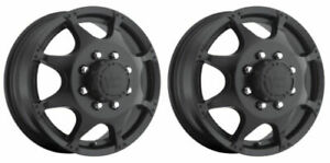 Vision Wheel 715h7680mbf Set Of 2 Matte Black 715 Crazy Eightz 17x6 5 Rims