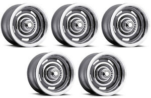 Vision Wheel 55 5773 Set Of 5 Silver 55 Rally 15x7 6 Offset 5x5 Rims