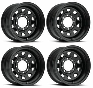 Vision Wheel 84h7981ns Set Of 4 Gloss Black 84 Vision 17x9 12 Offset 8x6 5 Rims