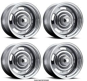 Vision Wheel 57 5873 Set Of 4 Chrome 57 Rally 15x8 6 Offset 5x5 Rims