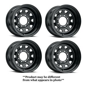 Vision Wheel 84h5165ns Set 4 Gloss Black 84 Vision 15x10 39 Offset 5x4 5 Rims