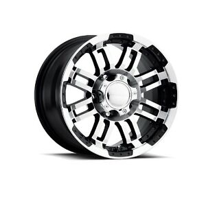 Vision Wheel 375 6835gbmf0 Set Of 4 Black W machined Face 375 Warrior 16x8 Rims