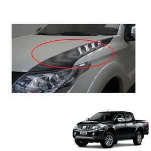 Mitsubishi L200 Triton On 2015 2016 2017 Side Bonnet Scoop Cover With Chrome