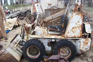 Vintage Rare Ih International Harvester 4125 One Arm Bandit Compact Skid Loader