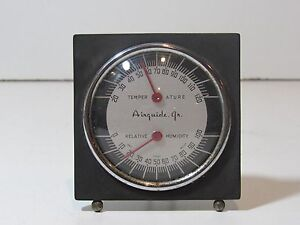 Antique 1930s 1950s Airguide Jr Dash Thermometer Humid Gauge Chevy Ford Rare