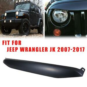 Unpainted Auto Night Hawk Light Brow Front Cover For 07 17 Jeep Wrangler Jk Usa