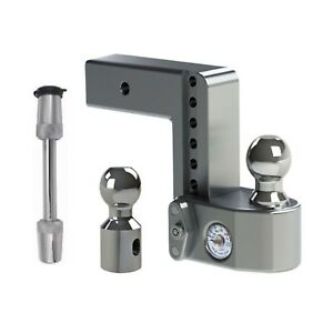 Weigh Safe Adjustable 6 Drop Hitch Ball Mount W Tongue Weight Scale