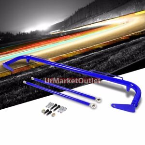 Blue Mild Steel 49 Racing Safety Chassis Seat Belt Harness Bar Across T