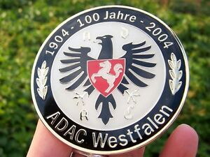 German Car Badge Adac Westfalen Anniversary Eagle 100 Years For Porsche Vw Bmw