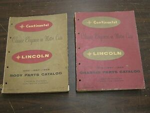 Oem Ford 1956 1957 1958 Lincoln Master Parts Books Continental Mark Ii Premiere