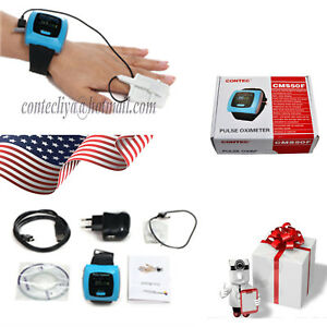 Oled Overnight 24h Sleep Recorder Cms50f Wrist Watch Finger Pulse Oximeter Usb