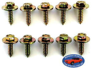 Ford Mercury Body Fender Grille Dash Factory Correct 10x34 Screws Bolts 10pc J Fits 1955 Ford