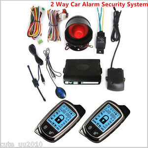 2x 2way Car Alarm Security System Lcd Super Long Distance Controlers Anti theft