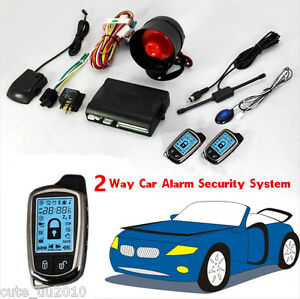 2way Car Alarm Security System With Lcd Super Long Distance Control Anti Theft