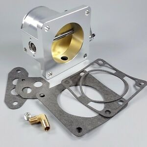 New 75mm Billet Aluminum Throttle Body For 86 93 Mustang 5 0l V8 Tps Sensor 1st