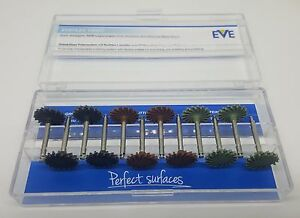Dental Eve Eveflex Twist Ra 240 Gold Amalgam Polishing System New Radial Discs