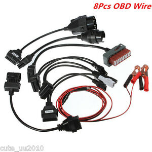8x Adapter Obd 2 Cables For Cdp Hd Pro Cars Diagnostic Interface Scanner Kit Set