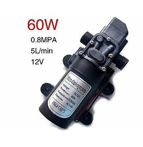 New 60w 12v 1 2 Electric Diaphragm High Pressure Water Pump Car Wash D Type