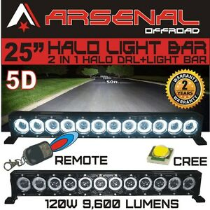 25 5d Halo Led Light Bar By Arsenal Offroad Halo Drl Super Spot cree 10w Led