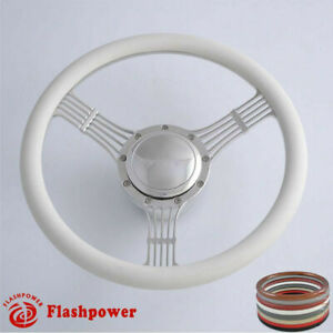 15 5 Billet Steering Wheels White Half Wrap Banjo Chevette Corvair Impala