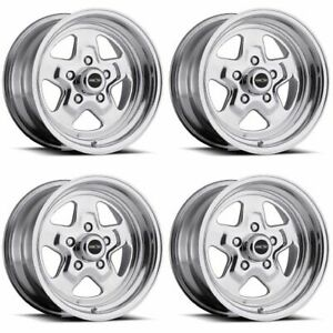 Set 4 15 Vision 521 Nitro Polished Rims 15x8 5x4 75 0mm Chevy Nova Buick 5 Lug
