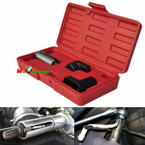 New 3pc Oxygen Sensor 02 Sockets Tool Set Automotive Wrench 7 8 22mm