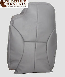 2000 Ram 1500 Laramie Driver Side Lean Back Synthetic Leather Seat Cover Gray