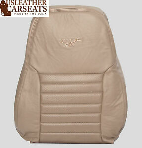 03 Ford Mustang Gt V8 Driver Lean Back Leather Perforated Seat Cover Tan