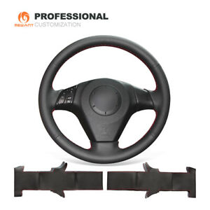 Top Black Leather Steering Wheel Cover For Mazda 3 Mazda 6 Mazda 5 Mazdaspeed3