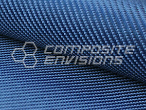 Made With Kevlar Blue Fabric 2x2 Twill Weave 50 6 2oz 210gsm