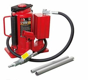 20 Ton Air Hose Hydraulic Bottle Jack Lifts Heavy Loads Steel Heavy Duty Durable