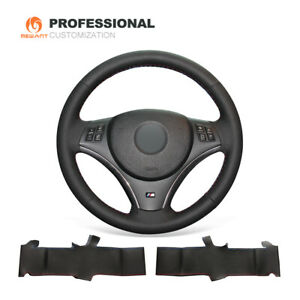 Genuine Leather Steering Wheel Cover For Bmw 1 Series E81 E82 3 Series E90 E91
