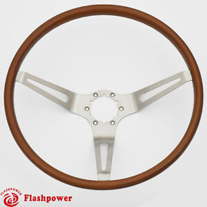 Flashpower Gm Classic Wood Steering Wheel Original Restoration Muscle Car 15