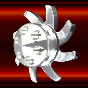 Polished Aluminum Alternator Fan And Pulley Kit For Sb And Bb Chevy