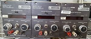 Lot Of 3 Lambda Dc Lq 410 Power supply 0 10vdc 2a 105 132vac Input Please Read