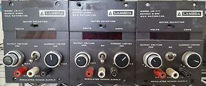 Lot Of 3 Lambda Dc Lq 411 Power supply 0 20vdc 1 2a 105 132ac Input Please Read