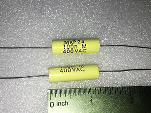 Electel Capacitor 0 1uf 100nf 400v New Lot Of 2 Good For Tube Tester P