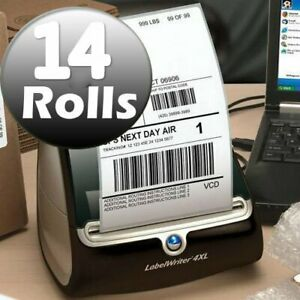 Dymo 4xl Direct Thermal Shipping Labels 4x6 1744907 Compatible 14 Rolls Usps Ups
