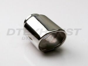 Different Trends Dt 24075 Exhaust Tip Double Wall Oval Round 2 25 X 3 2 2 75