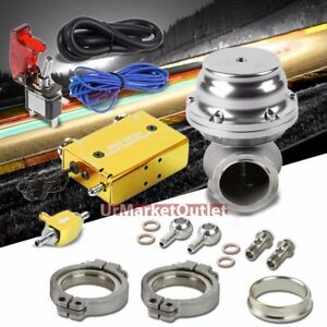 Gold Dual Stage Electronic Turbo Charger Boost Control silver External Wastegate