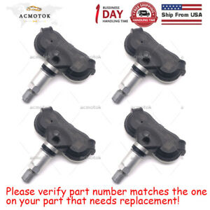 Set Of 4 Tpms Transmitter Tire Air Pressure Monitor System Sensor 42607 0c070