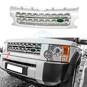 For Land Rover Discovery Lr3 05 09 Silver Front Grill Grille Trim Replacement