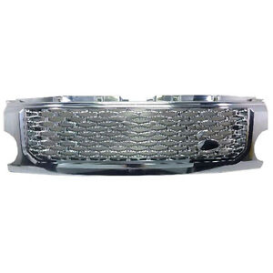 For Land Rover Discovery 3 2005 2009 Chrome Front Grille Insect Net Replace