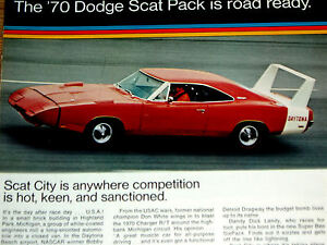 1970 Dodge Daytona Charger Coronet Super Bee Vintage Print Ad 340 440 V8 Engine