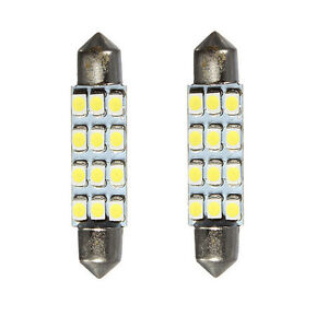 Charm 2x Car Dome 3528 smd 12 Led Interior Bulb Festoon Lamp Reading White Light