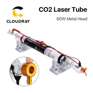60w Co2 Laser Tube Metal Head Glass Lamp Pipe For Cnc Laser Engraver Cutter
